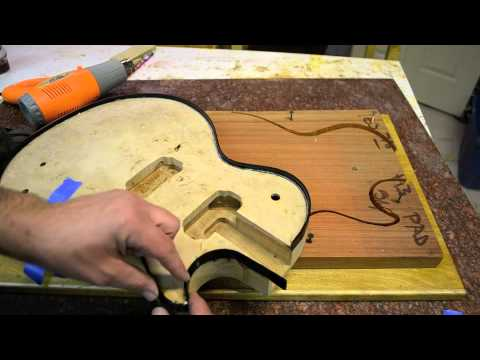 Inside the Luthier's Shop: How to Binding a Les Paul custom Guitar with a Jig Template