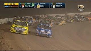NASCAR Camping World Truck Series 2017. Eldora Dirt Derby. Restart & Last Laps