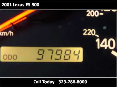 2001 Lexus ES 300 Used Cars Los Angeles CA