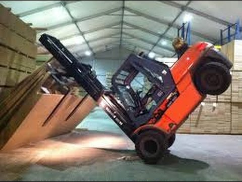 INSANELY FUNNY forklift fail complition!