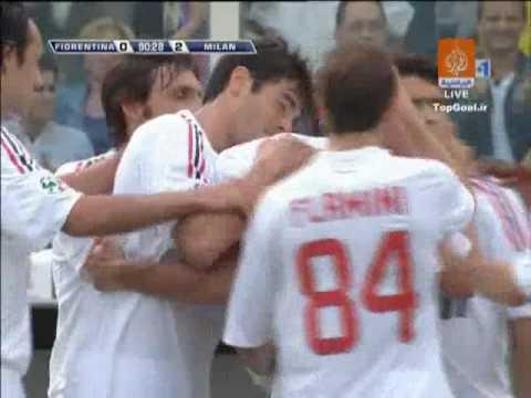 Fiorentina 0 2 AC Milan + Maldini's Goodbye Scene HQ 2009