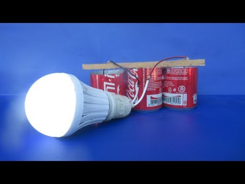 Free energy salt water with LED light bulbs - Experiment DIY science projects at home thumbnail