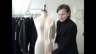15. How to drape a shifted shawl collar - by bespoke tailor Sten Martin