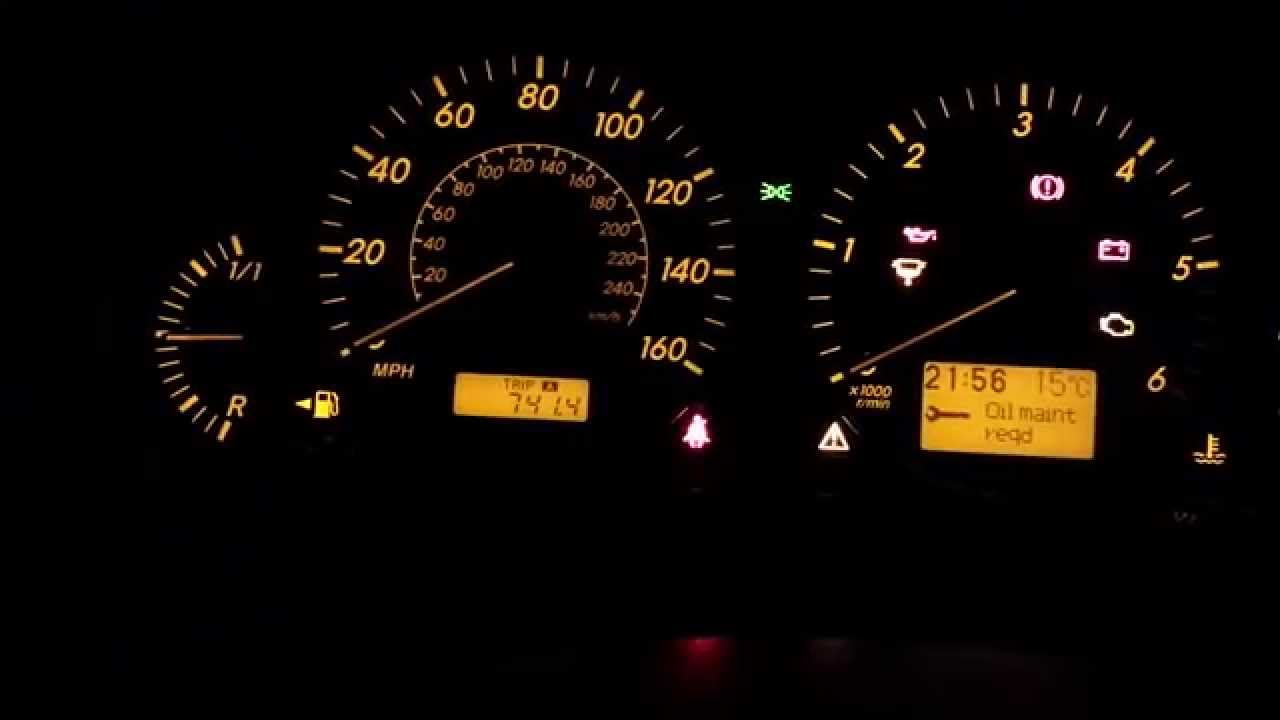 How To Reset Oil Maint Req Toyota Avensis 2008 Youtube