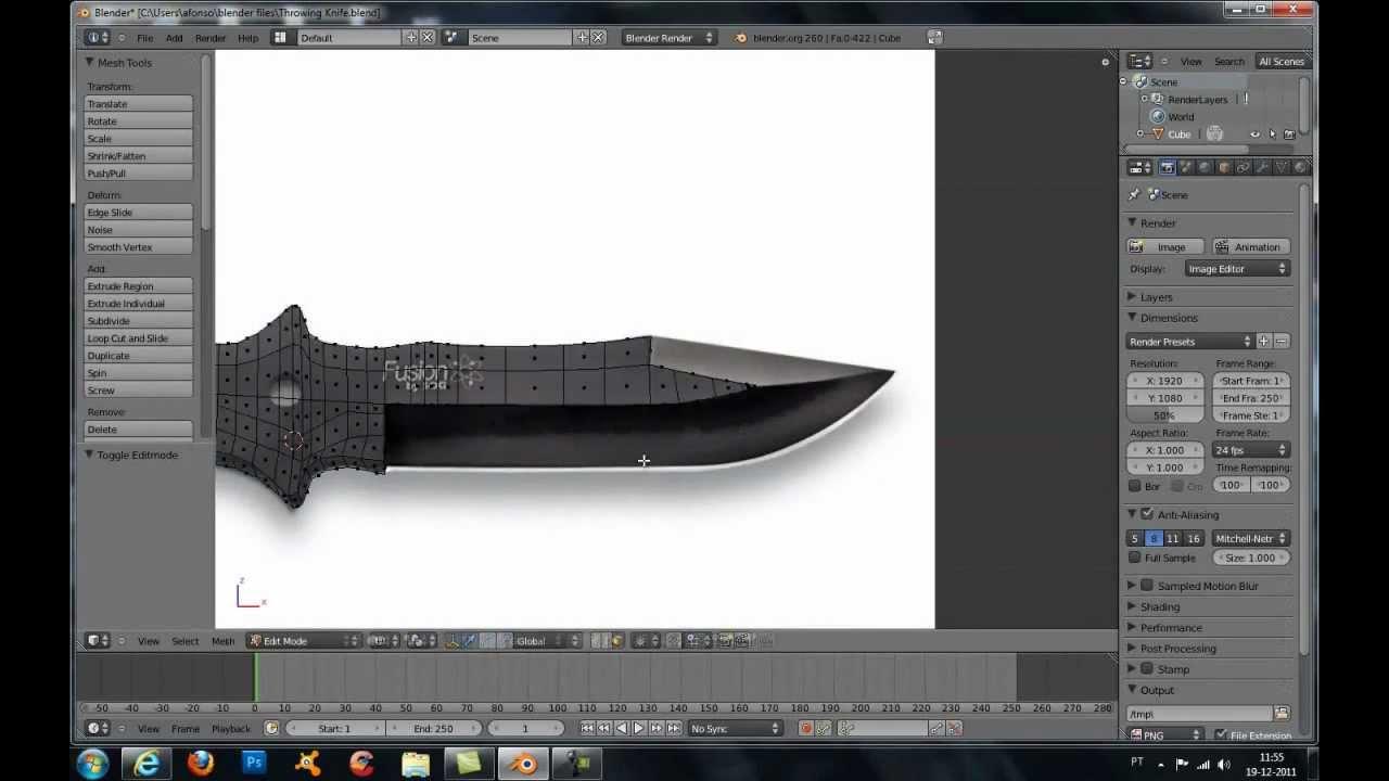 Как сделать нож на 3ds max 870
