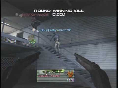 Modern Warfare 2: Throwing Knife Dodge (Game Winning Kill)