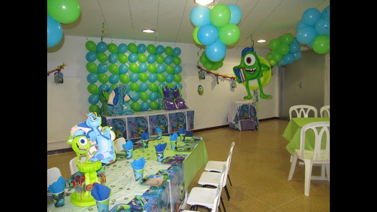 Decoracion fiesta tematica infantil monster university - Decoracion fiestas tematicas ...