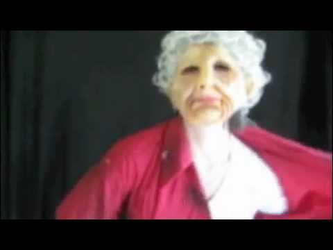 Old Woman Strip Tease Funny Halloween Mask
