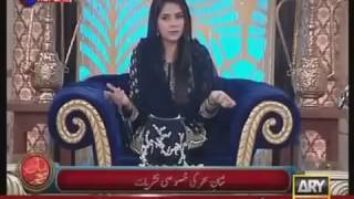 Nadia Khan in The Morning Show With Sanam Exclusive Interview