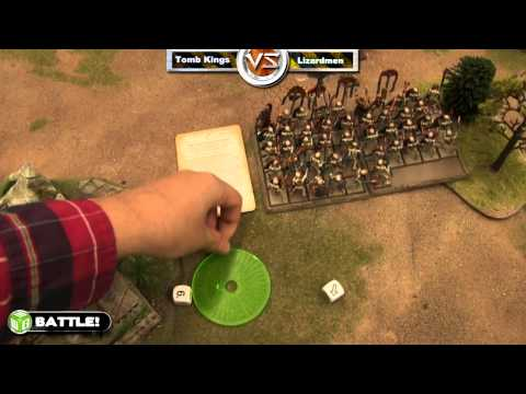 Tomb Kings vs Lizardmen Warhammer Fantasy Battle Report Fantasy League Ep 20