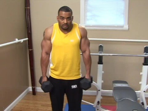 Weight Lifting Exercises : Weight Lifting Exercises: Dumbbell Shrugs Image 1