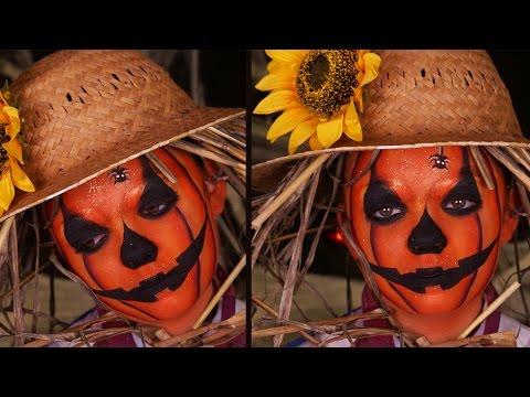 Maquillage enfant la citrouille d 39 halloween d guisement pouvantail youtube - Image de maquillage d halloween ...