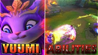 YUUMI NEW CHAMPION ABILITIES GAMEPLAY - League of Legends New Support
