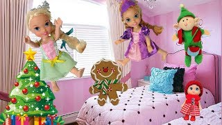 Anna and Elsia Toddlers Christmas Ornaments Adventure🎄Funny Holiday Family Fun Elsya Annya Dolls Toy
