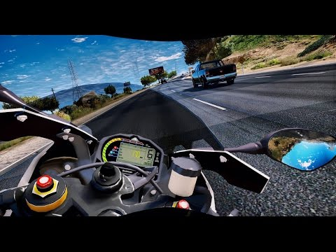 ► GTA 5 REDUX ✪ Ultra Realistic Graphics MOD - BMW S1000 RR | 1080p - 60 FPS GTA v