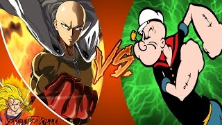 ONE PUNCH MAN Saitama vs POPEYE! Cartoon Fight Club Episode 121 REACTION!!!