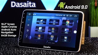 "Dasaita 10.2"" Android 9.0 Stereo with Wireless Apple Carplay, Android Auto and 64GB Storage"