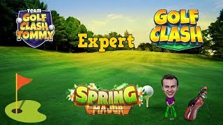 Golf Clash tips, Playthrough, Hole 1-9 - EXPERT - TOURNAMENT WIND! Spring Major Tournament!