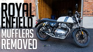 2019 Royal Enfield Continental GT 650 Without Exhaust Muffler