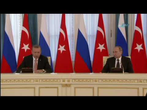 Cumhurbaşkanı Erdoğan Putin ile Suriye'yi Görüştü