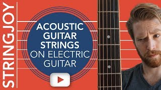 Download Lagu We Put Acoustic Guitar Strings On Electric Guitar—So You Don't Have To Gratis STAFABAND