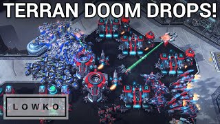 StarCraft 2: TERRAN DOOM DROPS! (INnoVation vs Cure)