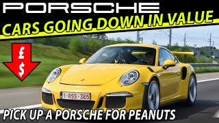 5 Porsche Cars Going DOWN in Value 👇 - Great Porsche Price Bargain News