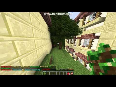 Minecraft Hunger Games Oynuyoruz Bölüm 7 Seed Çıktı İçinden :)