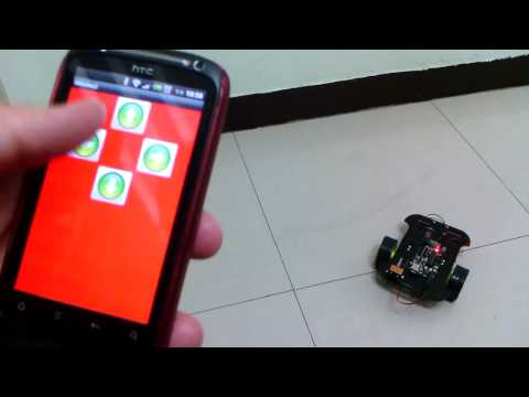android 手機遙控車(便宜方案) = Motoduino(整合Arduino+L293D) + 藍芽模組(Bluetooth) Music Videos