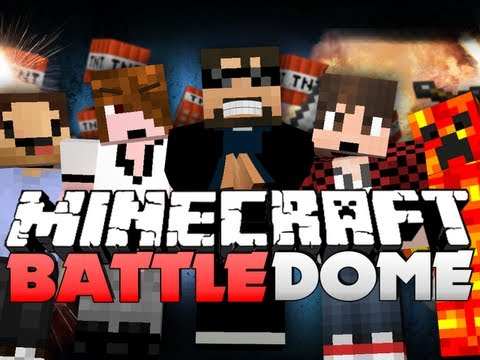 Minecraft Battle Dome - RUSHING OP!! (SkyDoesMinecraft, BajanCanadian, and Friends)