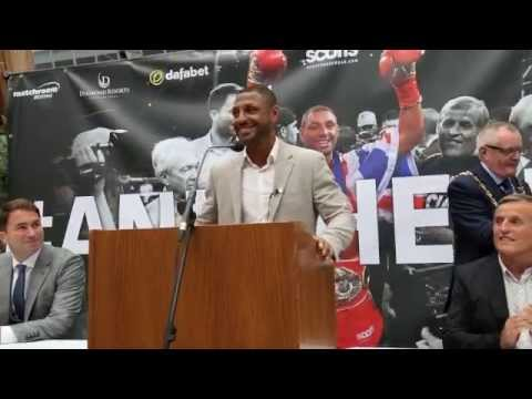 KELL BROOK RETURNS TO SHEFFIELD AS IBF WORLD CHAMPION - PRESS CONFERENCE @ WINTER GARDENS