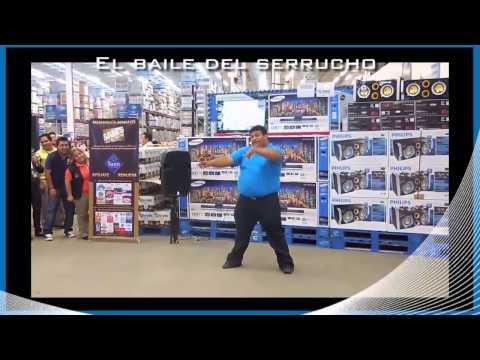 Gordito bailando baile del serrucho en supermercado ( Edgar Ramos)