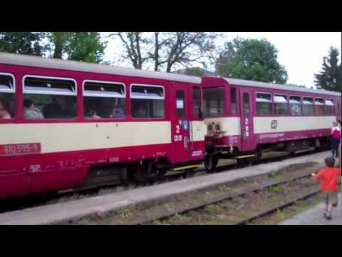 Czech Motorák Train-Český Krumlov Station-New Part of Town-Ride