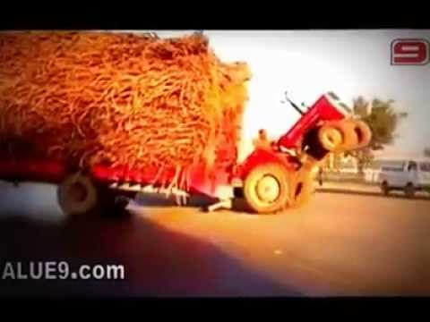 Simply Superb And Dangerous Tractor Stunt Performed By An Indian ! video