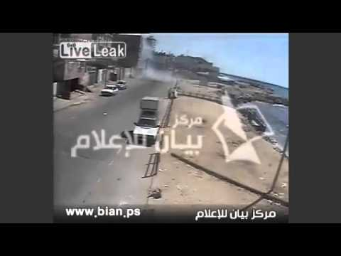 Gaza Israeli Air Force Pinpoint Strike Hits 2 Islamic Terrorists CCTV