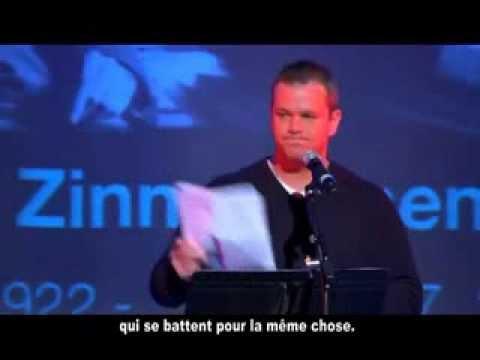 discours de Matt Damon