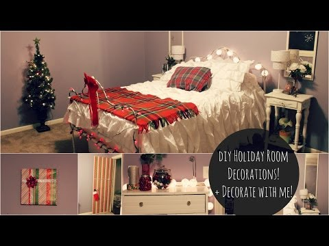 DIY Holiday Decorations! + Holiday Room Tour! | xoxosolie