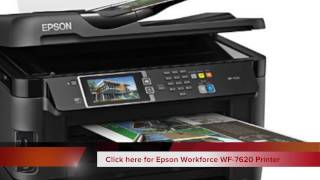 Epson Workforce WF 7620 Wireless and WiFi Color Inkjet Printer for Office