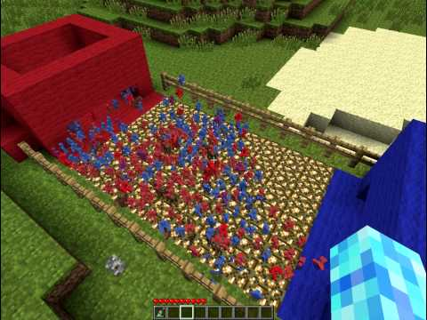 Minecraft Mods Clay Soldiers Red vs. Blue