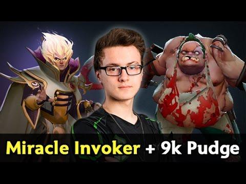 Miracle Invoker god + 9000 MMR Pudge — Liquid vs Cloud 9