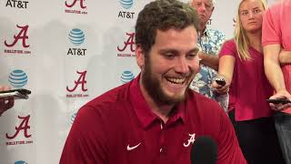 Alabama TE Hale Hentges talks offense, second scrimmage
