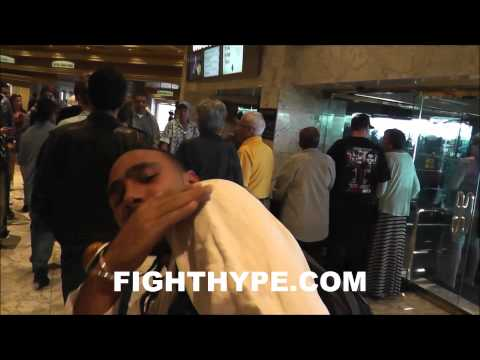KEITH THURMAN SAYS HES SCOUTING FLOYD MAYWEATHER I KNOW THAT SHOULDER ROLLIM STUDYING