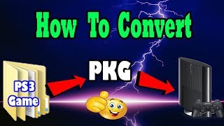 How To Convert PS3 Folder Games Into PKG Games !!