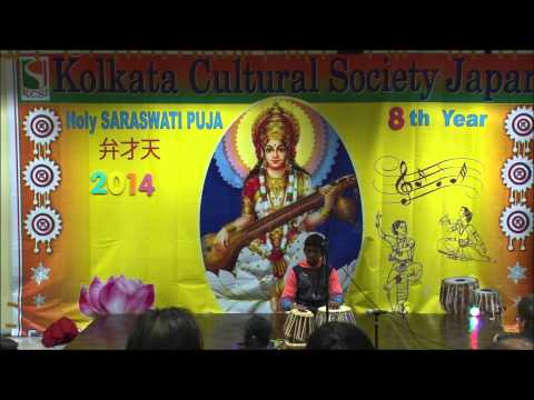 Saraswati Puja Celebration 2014 Japan -  Tabla Solo By Aruny Baidya video