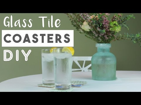 DIY Glass Tile Coasters | Easy Mother's Day Gift Idea