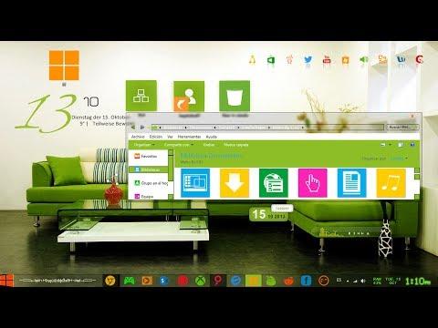 Personalización Estilo Metro Elegante Para Windows 7 - 2014