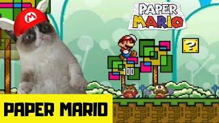 """Super Mario 4 Jugadores // PAPER MARIO """" La pequeña aventura """""""