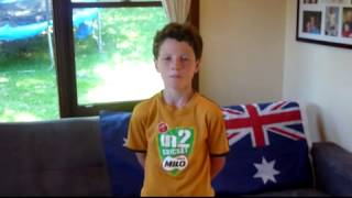 Josharoo sings the Australian Anthem! by Josh McKenna