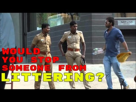 Would You Stop Someone From Littering? Social Experiment | Shocking Results video