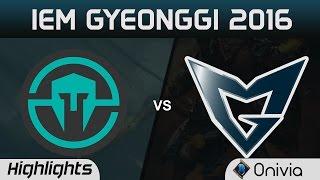 IMT vs SSG Highlights Game 2 IEM Gyeonggi 2016 D1 Immortals vs Samsung